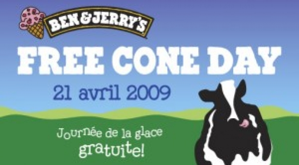 Ben & Jerry's : Free Cone Day !