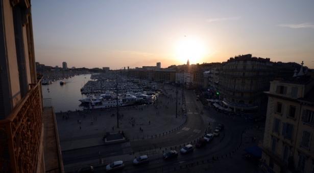 Hôtel Escale Océania Marseille, chambre avec vue sur la mer.