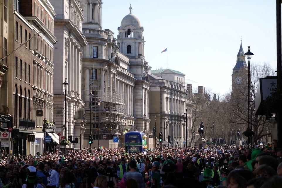 Londres défilé Saint Patrick