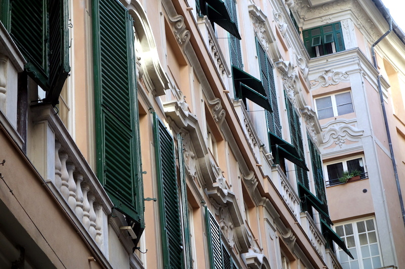 Gênes volets à l'italienne