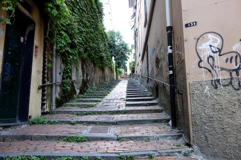 Escaliers Gênes, spianata di castelletto