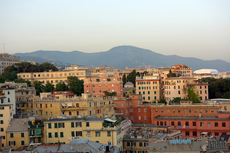 Gênes vue de haut place, spianata di castelletto