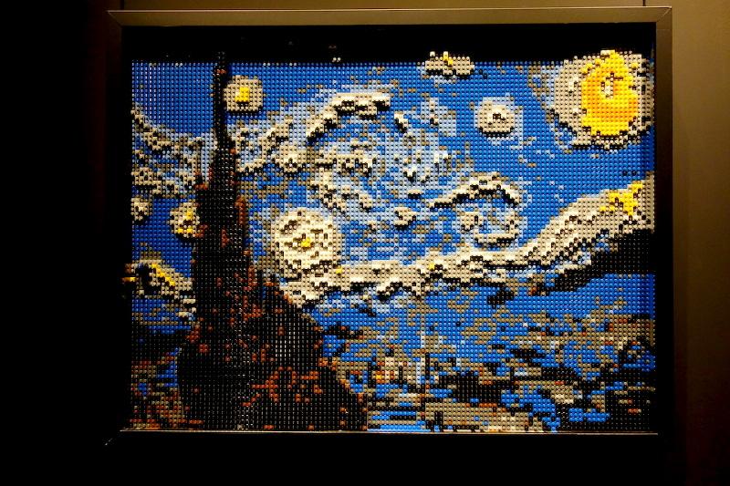 La Nuit étoilée The Art Of The Brick