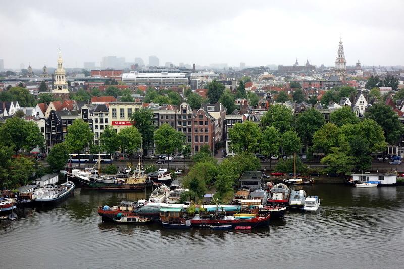 Vue depuis la bibliothèque centrale Amsterdam