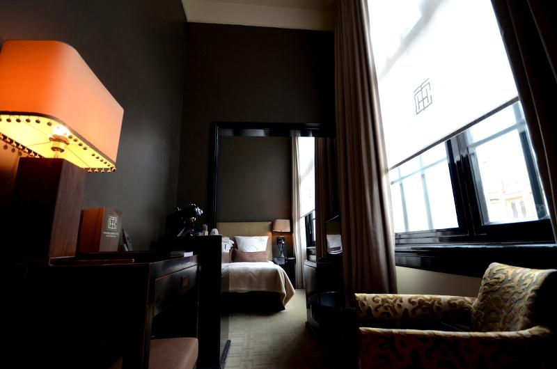Vue depuis le salon the college hotel amsterdam