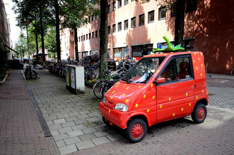 voiture fraise amsterdam